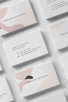 Penélope Business Card Template — The Denizen Co Papery und Briefpapier mit abstraktem, rosa Muster. Graphic Design Agency, Logo Design, Design Poster, Icon Design, Design Cars, Identity Design, Brand Identity, Brand Design, Graphic Designers