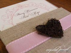 Shabby Chic fabric heart invitation by crystalprint via Flickr