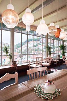 Costa do Costelo, tél. Lisbon Restaurant, Lisbon Hotel, Portugal Travel, Spain And Portugal, Hotel Boheme, Vintage Coffee Shops, Destinations, Window Frames, Nooks