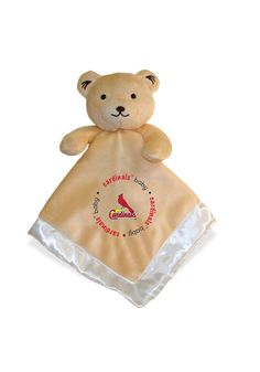 St. Louis Cardinals Baby Security Bear Blanket http://www.rallyhouse.com/shop/st-louis-cardinals-st-louis-cardinals-security-bear-blanket-1901075 $14.95