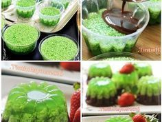 Resep Puding Lumut Pandan Cokelat Gurih Bangett Oleh Tintin Rayner Resep Resep Puding Pudding Desserts