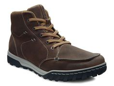 ECCO Outdoor - Men's Collection - The ECCO Brooklyn (pictured) is an everyday rugged boot for people whose lives are filled with interesting, active days. Designed for adventures that span from city to outdoor environments, and whatever happens in between. Featuring walking comfort, fit and traction. An ideal shoe for daily life and periodic exploits. $160.00