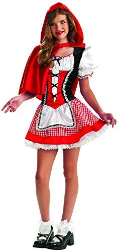ShareRubie's Drama Queens Tween Red Riding Hood Costume - Tween Small (0-2) Fun costumes for kids and adults Whether it's for halloween, a themed party, or even for gigglesShare