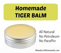 DIY Homemade Hot Tiger Balm Recipe