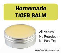 DIY Homemade Hot Tiger Balm Recipe Balsamo del tigre R. Natural Health Remedies, Natural Cures, Natural Healing, Herbal Remedies, Home Remedies, Natural Treatments, Natural Medicine, Herbal Medicine, Home Health