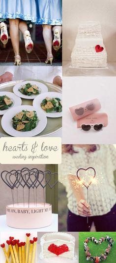 hearts wedding inspiration
