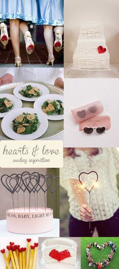 hearts wedding inspiration