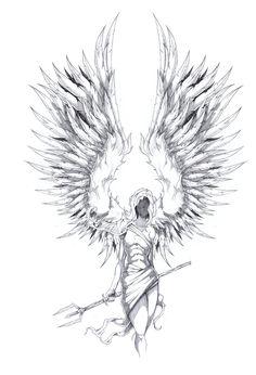 Archangel Tattoo Design by ShawnCoss.deviantart.com on @deviantART