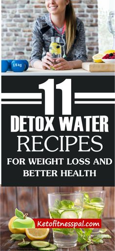 Do you know you can infuse fruits,vegetables and herbs into your water for weight loss? Check out these 11 detox water recipes for fast weight loss. Weight Loss Water, Weight Loss Detox, Weight Loss Drinks, Fast Weight Loss, Lose Weight, Ginger Detox Water, Best Detox Water, Lemon Detox, Detox Juice Recipes