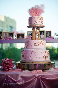 beautiful cake with feathers