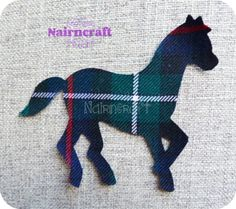Horses - Ponies - Equestrian - Applique - Patch - Dark Green - Tartan - Wool - Ready Cut - Iron On - Sew On - 4 - Cut Outs - Machine Applique, Free Machine Embroidery Designs, Fat Quarter Quilt, Scottish Gifts, Pony Horse, Fabric Patch, Patchwork Quilting, Quilts, Love Sewing