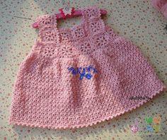 TRICO y CROCHET-madona-mía: Vestido para bebe a crochet con patrón