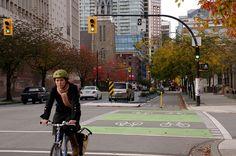 Vancouver, Dunsmuir Separated Bike Lanes 162 by Paul Krueger, via Flickr