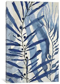 East Urban Home 'Sea Nature in Blue II' Painting Print on Canvas Oil Painting Flowers, Painting Prints, Art Prints, Abstract Watercolor, Watercolor Paintings, Watercolors, Blue Artwork, Painting Inspiration, Canvas Art