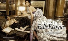 Viva la Belle �poque in Four Seasons with Anna Chyzh,Katerina Siamionava wearing Christian Lacroix,Dolce