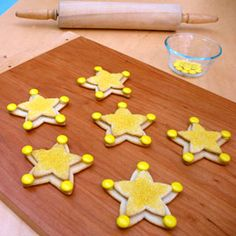 Woody's Sheriff Badge Cookies