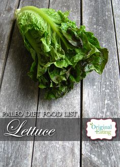Learn secrets other sites won't tell you about Lettuce and other foods on the Paleo diet food list including Paleo diet recipes only at Original Eating! Paleo Diet Food List, Diet Recipes, Lettuce, Spinach, Herbs, Foods, Vegetables, The Originals, Health
