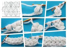 Punto Flor asterisco crochet tutorial