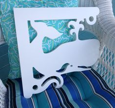 """This whale corner brackets is made from 3/4"""" all weather PVC and is designed to add flair to mailboxes, porches, decks, entryways and more!"""