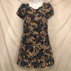 abf3f3b88a9 Betsey Johnson Collection Floral Mini Shift Dress Sz 0 Multi Color