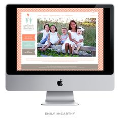Emily McCarthy Branding Design | Pediatric Dentistry of Newnan Custom Website Design