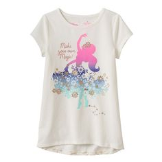 """Disney's Elena of Avalor Toddler Girl Glitter """"Make Your Own Magic"""" Tunic by Jumping Beans®, Size:"""