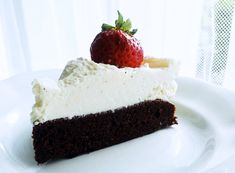 Jednoduchý dort s kakaovým základem a lehkým krémem z mascarpone Cheesecake, Food, Mascarpone, Cheesecakes, Essen, Meals, Yemek, Cherry Cheesecake Shooters, Eten