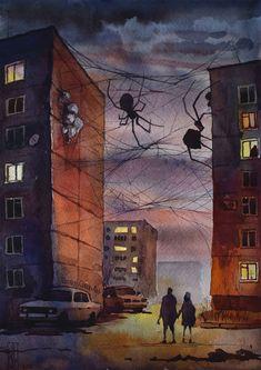technology art - Visual Necromancy The Amazing Art By Boris Groh Dark Fantasy Art, Art Sinistre, Arte Peculiar, Spider Art, Wolf Spider, Creepy Images, Arte Obscura, Creepy Art, Creepy Paintings