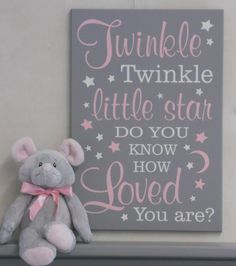 Twinkle Twinkle Little Star Do You Know How Loved You Are - Sign - Baby Shower Gift - Gender Neutral Nursery Decor Star Nursery, Nursery Wall Art, Girl Nursery, Nursery Decor, Twinkle Twinkle Little Star, Baby Shower Gifts, Baby Gifts, Unique Baby Girl Gifts, Star Baby Showers