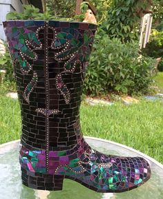 Black Boot | by Elsieland Mosaics