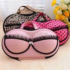 Stylish Portable Lingerie Storage Box Sexy Ladyu0027s Colorful Bra Chest Bag  Underwear Organizer Travel Bag For