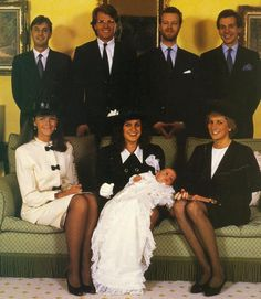 April 1989 Lord Downpatrick (Edward Edmund Maximilian George), the son of the Earl & Countess of St. Andrews, is christened. Princess Diana is one of the godparents. Other godparents are: Clare Stonor, Hon. Tim Knatchbull, Count Nicholas Szapary and William Worsley. The Earl of St. Andrews is the eldest son of the Duke and Duchess of Kent.