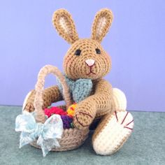 Easter tree basket crochet pattern. - Crafts - Free Craft Patterns