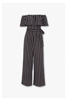 Striped Off-the-Shoulder Jumpsuit | Forever 21 #jumpsuit #outfit #teens #jumpsuitoutfitteens Stylish Dresses For Girls, Cute Outfits For Kids, Cute Casual Outfits, Pretty Outfits, Stylish Outfits, Cute Dresses, Indian Fashion Dresses, Girls Fashion Clothes, Teen Fashion Outfits