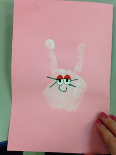 Bunny handprints for cards!