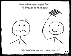 Cartoon Tester: How a developer feels