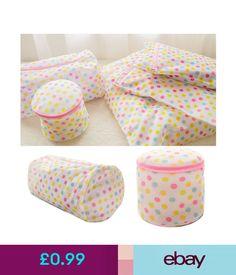 Laundry Bags Polka Dot Protect Clothe Bra Underwear Socks Zipper Washing Laundry Bag Mesh #ebay #Home & Garden