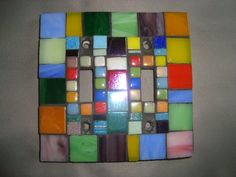 MOSAIC LIGHT SWITCH Plate Cover Multicolored by victoriacharlotte
