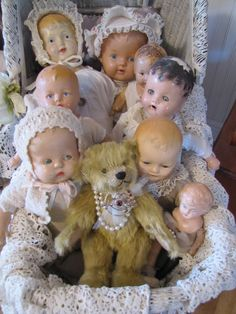 A buggy full of old dolls