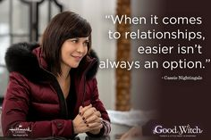 """Need some inspiration? Get insightful quotes from Cassie Nightingale, from the Hallmark Channel original series, """"Good Witch. Insightful Quotes, Inspirational Quotes, Motivational, Hallmark Good Witch, The Good Witch Series, Witch Quotes, Tv Show Casting, Catherine Bell, Character Quotes"""