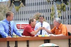 #ESPN #Gameday Nick Saban and Mack Brown, TX. [by bamafn2] www.RollTideWarEagle.com sports stories that inform and entertain, plus #collegefootball rules tutorial. Check out our blog and let us know what you think. #RTR #RollTide
