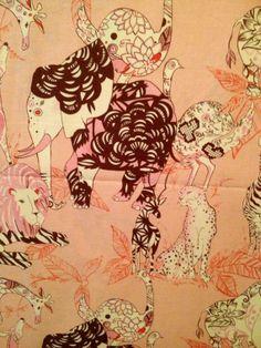Alexander Henry Zanzibar  Peach Brown Pink by QueenCottonFabrics, $15.00