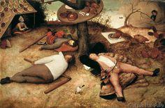 Pieter Bruegel der Ältere - Das Schlaraffenland