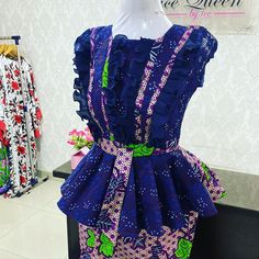 Short African Dresses, African Blouses, Latest African Fashion Dresses, African Lace, African Print Fashion, African Fashion Traditional, African Print Dress Designs, Ankara Skirt And Blouse, African Jumpsuit
