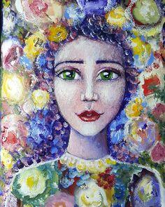 Tonight's journal girl ☺🌸🌹👧🌻🌼☺#journalinginfrontofthetelly by Tanya Cole