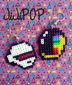 Boucles d'Oreilles Perles Hama - Daft Punk