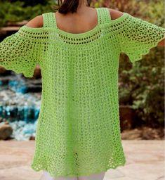Blusas a crochet de verano ➤ blusas crochet ➤ crochet patrones. Skirt Pattern Free, Crochet Skirt Pattern, Crochet Tunic, Crochet Lace, Crochet Tops, Crochet Afghans, Crochet Toddler Dress, Baby Girl Crochet, Crochet Woman
