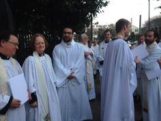Clergy lining up #EDOLA15 #Episcopal