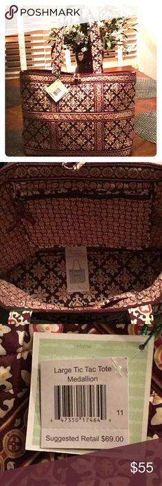 Vera Bradley Large Tac Toe Tote Medallion NWT 💕 Brand New Vera Bradley Tic Tac Tote in the Medallion fabric!  Roomy Tote for travel or everyday!  Retired and no longer available! Vera Bradley Bags Totes