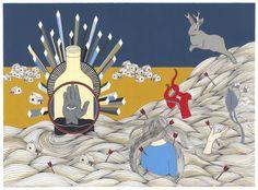 hannah dansie!   The Odd Plan - 11 x 15 Giclee Print
